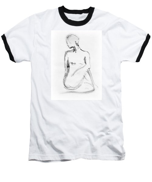 Nude Model Gesture Vi Baseball T-Shirt
