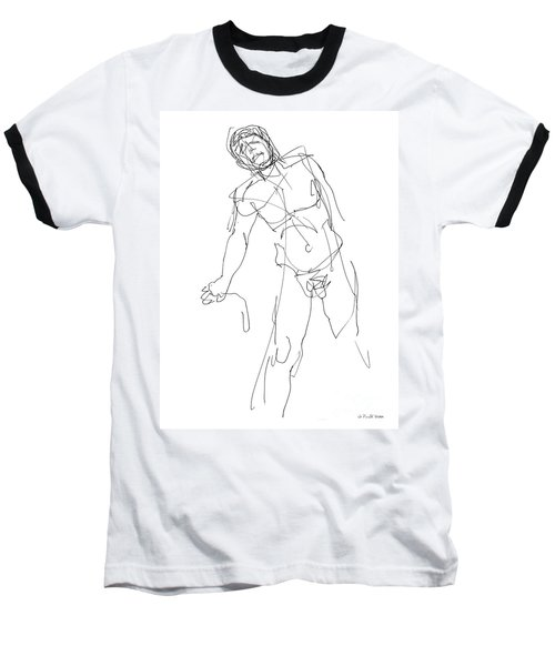 Nude_male_drawing_30 Baseball T-Shirt