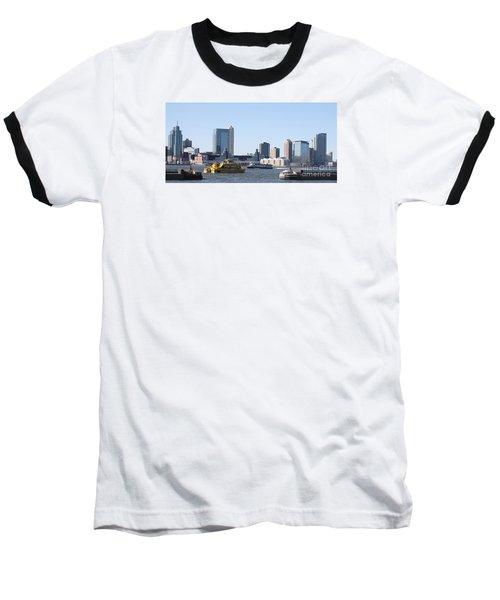 Ny Waterways Baseball T-Shirt by John Telfer