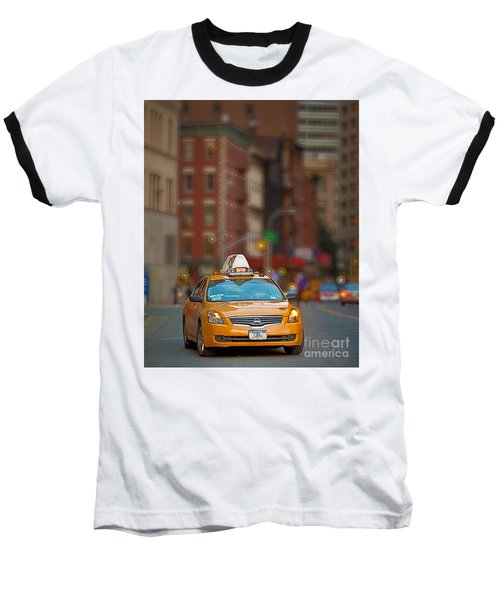 Baseball T-Shirt featuring the digital art Taxi by Jerry Fornarotto