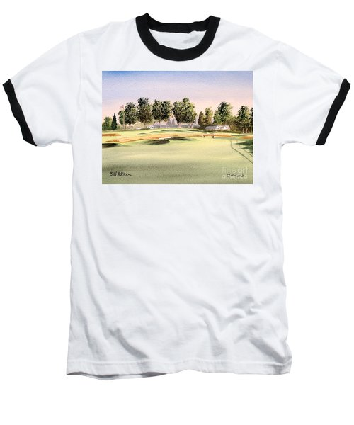Baseball T-Shirt featuring the painting Oakmont Golf Course 14th by Bill Holkham