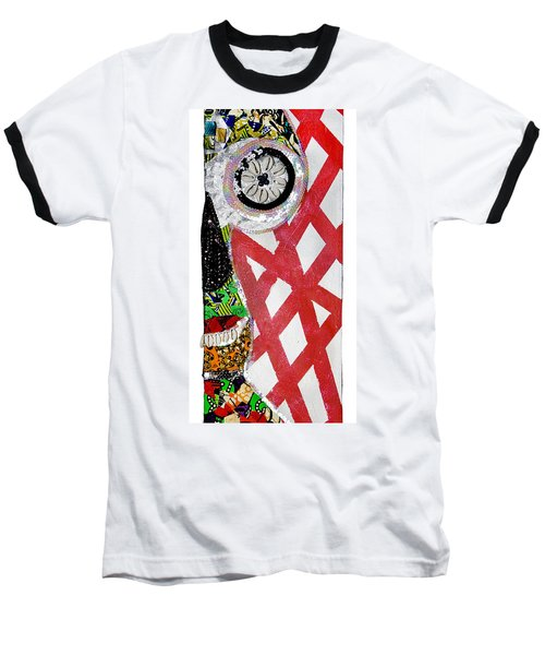 Baseball T-Shirt featuring the tapestry - textile Obaoya by Apanaki Temitayo M