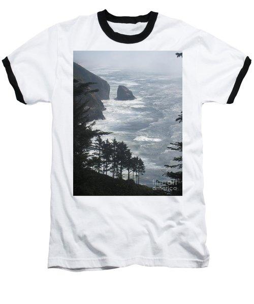 Baseball T-Shirt featuring the photograph Ocean Drop by Fiona Kennard