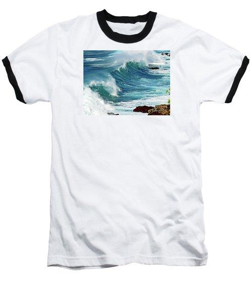 Ocean Majesty Baseball T-Shirt by Patricia Griffin Brett