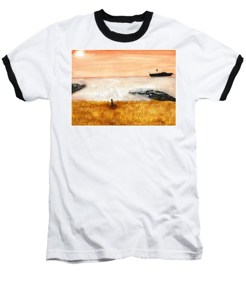 Ocean Mist 3 Baseball T-Shirt