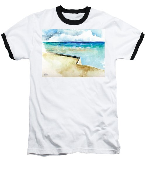Ocean Pier In Key West Florida Baseball T-Shirt by Catherine Twomey
