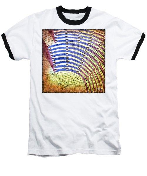 Ochre Auditorium Baseball T-Shirt by Mark Jones