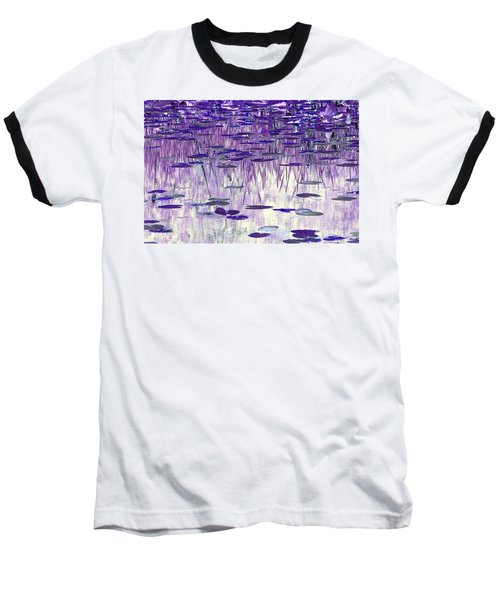 Ode To Monet In Purple Baseball T-Shirt by Chris Anderson