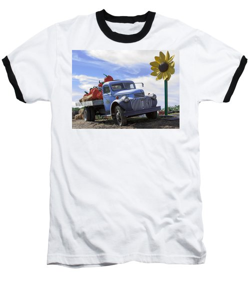 Baseball T-Shirt featuring the photograph Old Blue Farm Truck  by Patrice Zinck
