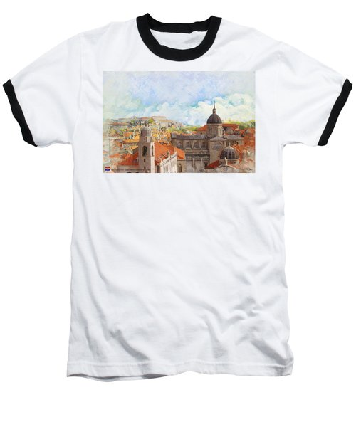 Old City Of Dubrovnik Baseball T-Shirt