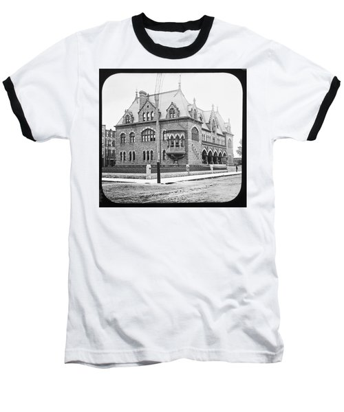 Old Customs House And Post Office Evansville Indiana 1915 Baseball T-Shirt