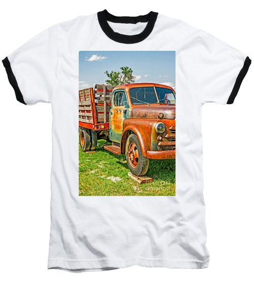 Old Dually Baseball T-Shirt by Sue Smith