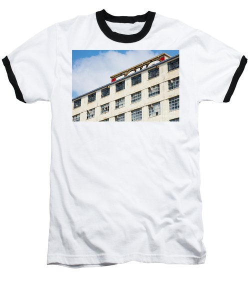 Baseball T-Shirt featuring the photograph Old Factory Under A Clear Blue Sky by Nick  Biemans