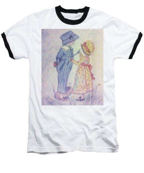 Old Fashioned Romance Baseball T-Shirt by Christy Saunders Church