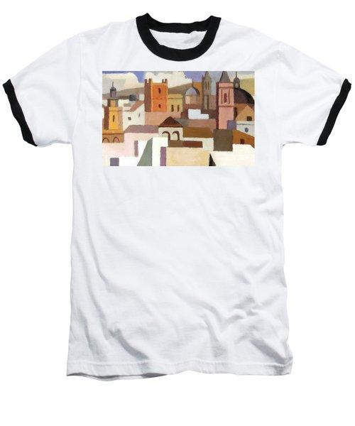 Old Jerusalem Baseball T-Shirt by Munir Alawi