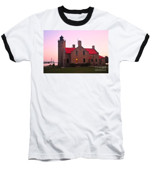 Baseball T-Shirt featuring the photograph Old Mackinac Point Lighthouse by Terri Gostola