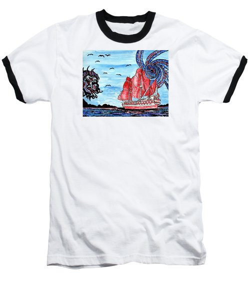 Old Man And The Sea Baseball T-Shirt