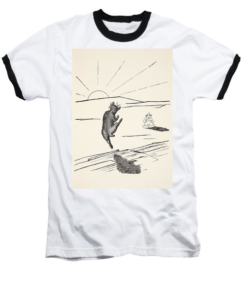 Old Man Kangaroo Baseball T-Shirt by Rudyard Kipling