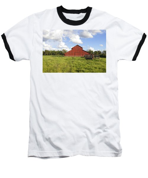 Baseball T-Shirt featuring the photograph Old Red Barn by Mark Greenberg