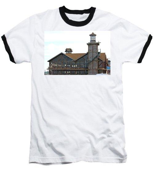 Old Restaurant                 Baseball T-Shirt by Lorna Maza