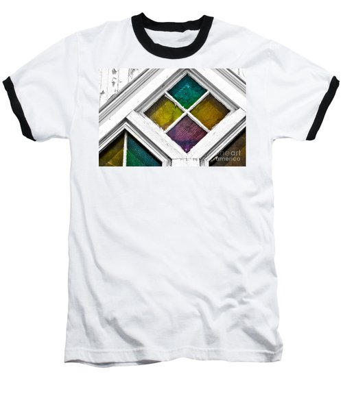 Old Stained Glass Windows Baseball T-Shirt