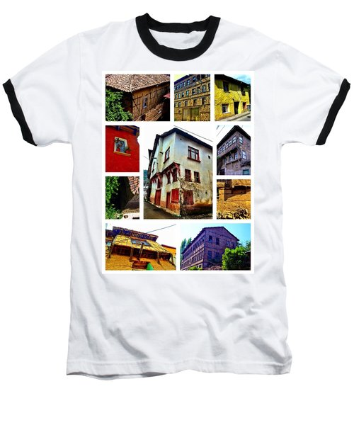 Old Turkish Houses Baseball T-Shirt by Zafer Gurel