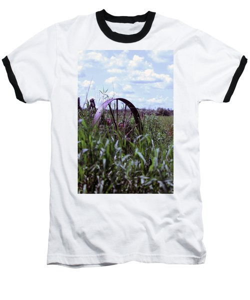 Old Wheel  Baseball T-Shirt by Joann Copeland-Paul