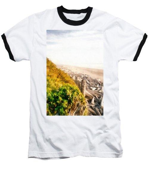 Olympic Peninsula Driftwood Baseball T-Shirt