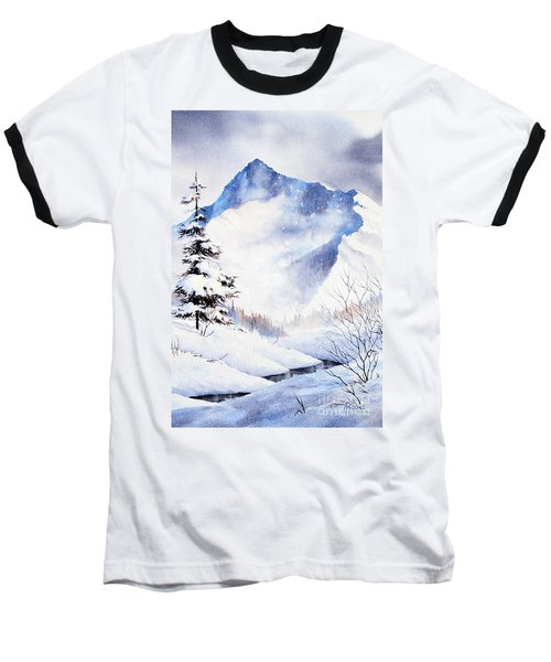 Baseball T-Shirt featuring the painting O'malley Peak by Teresa Ascone