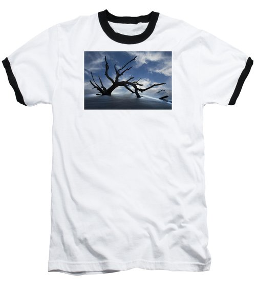 Baseball T-Shirt featuring the photograph On A Misty Morning by Debra and Dave Vanderlaan