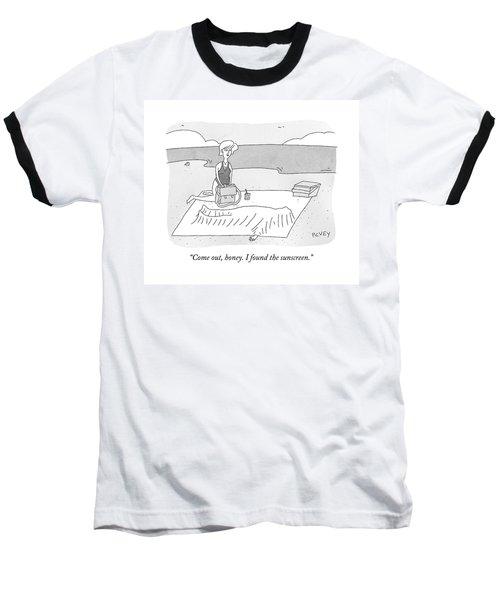 On The Beach Baseball T-Shirt