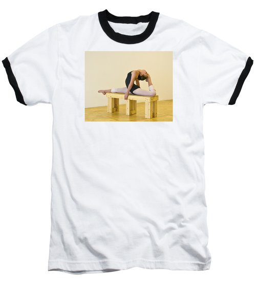 Practicing Ballet On The Bench Baseball T-Shirt