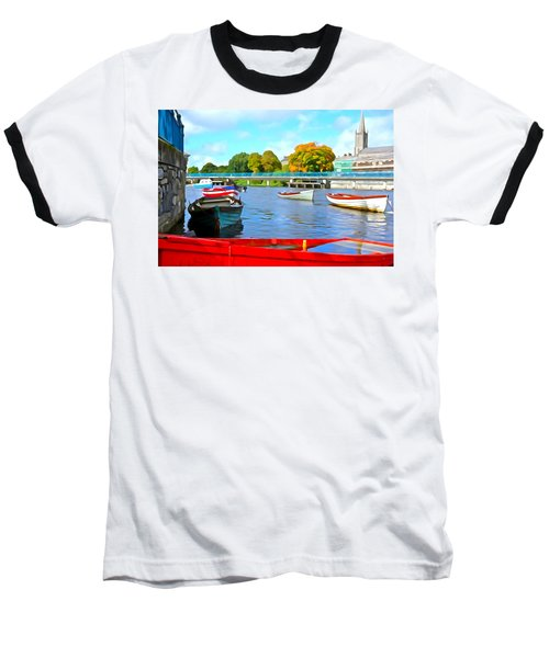 Baseball T-Shirt featuring the photograph On The Garavogue by Charlie and Norma Brock