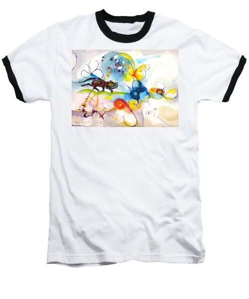 Baseball T-Shirt featuring the painting On The Prowl by Mary Armstrong