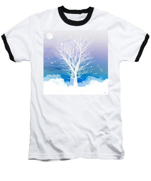 Once Upon A Moon Lit Night... Baseball T-Shirt