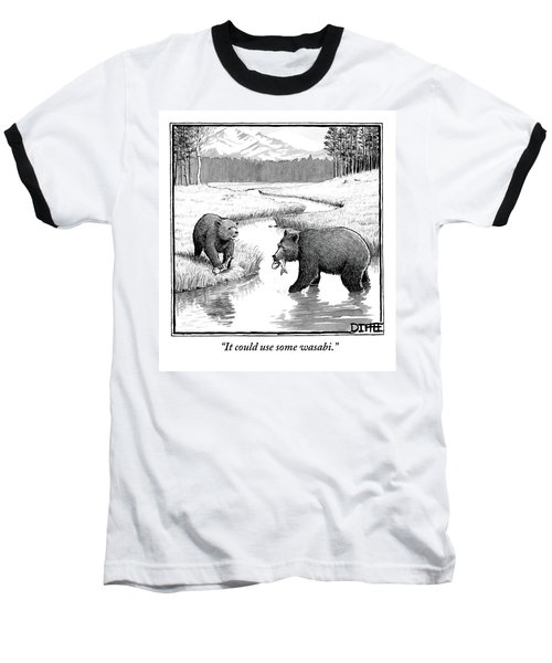 One Bear Speaks To Another As They Catch Fish Baseball T-Shirt