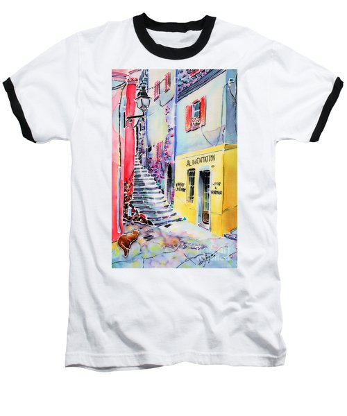 Baseball T-Shirt featuring the painting One Spring Day by Hisayo Ohta