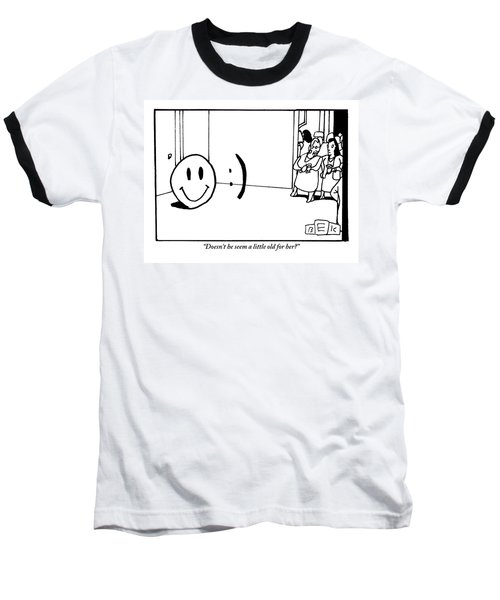 One Traditional Smiley Face Standing Next To An Baseball T-Shirt