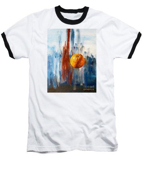 Orange Baseball T-Shirt by Arturas Slapsys