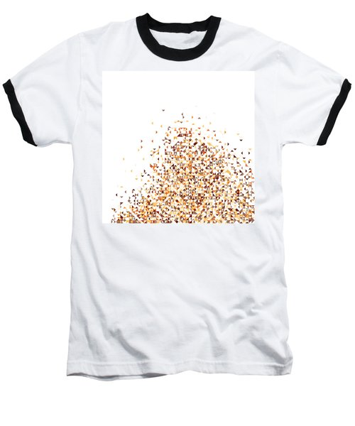 Orange Pixels Baseball T-Shirt