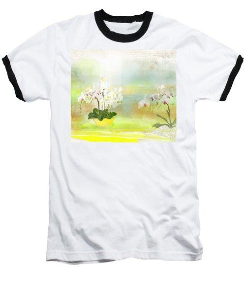 Orchids - Limited Edition 1 Of 10 Baseball T-Shirt by Gabriela Delgado