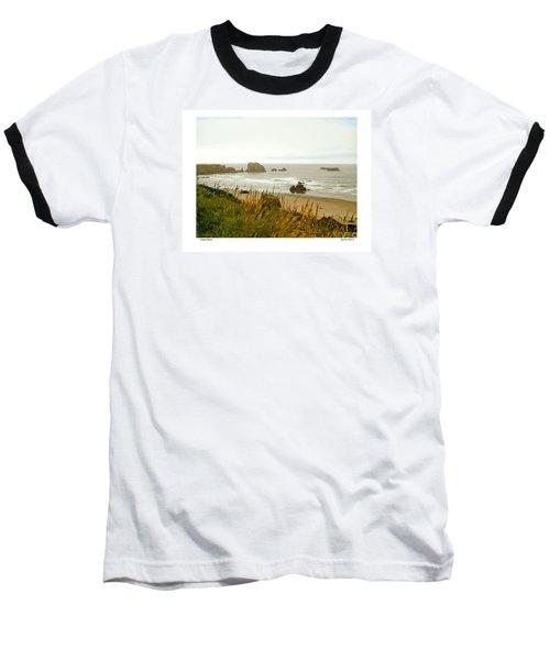 Oregon Beach Baseball T-Shirt by Kenneth De Tore