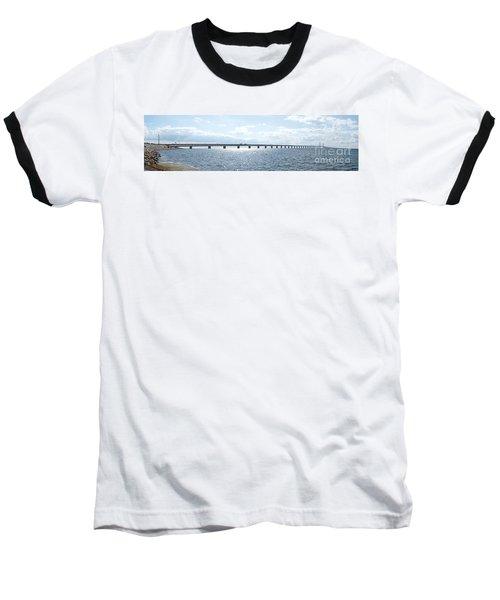 Oresundsbron Panorama 01 Baseball T-Shirt by Antony McAulay