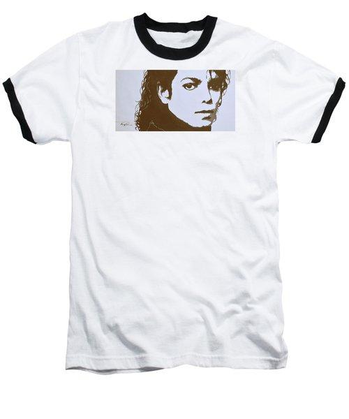 original black an white acrylic paint art- portrait of Michael Jackson#16-2-4-12 Baseball T-Shirt by Hongtao     Huang