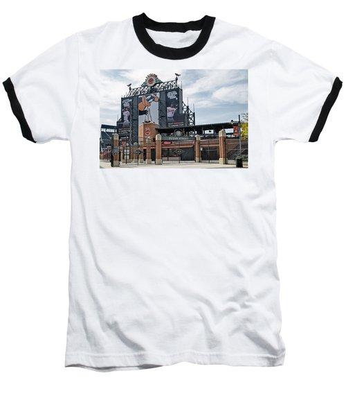 Oriole Park At Camden Yards Baseball T-Shirt by Susan Candelario