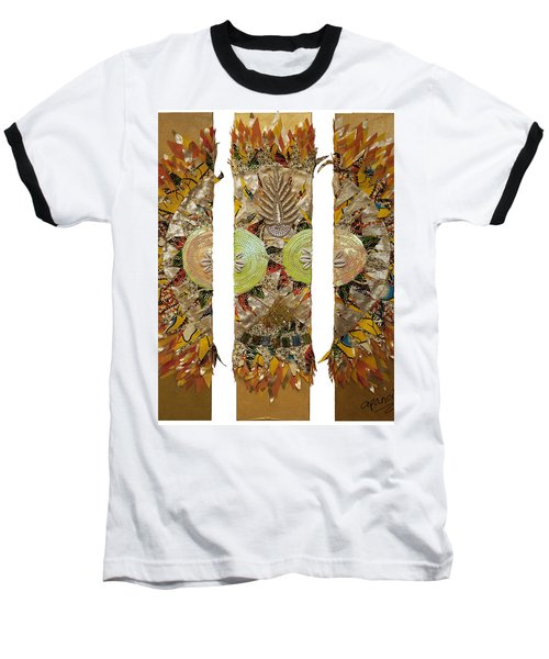 Baseball T-Shirt featuring the tapestry - textile Osun Sun by Apanaki Temitayo M
