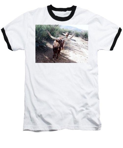 Out Of Africa  Long Horns Baseball T-Shirt