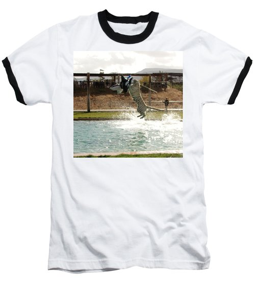 Out Of Africa Tiger Splash 7 Baseball T-Shirt