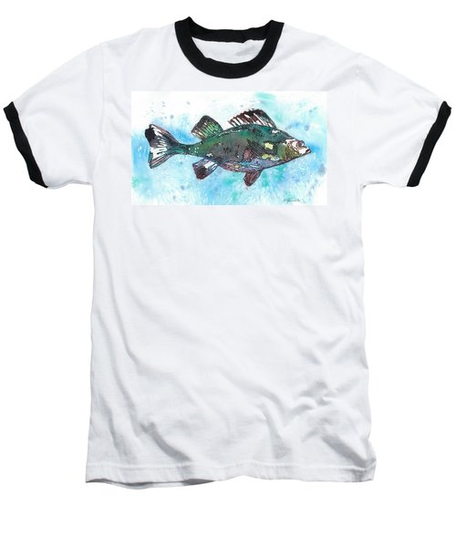 Baseball T-Shirt featuring the painting Out Of School by Barbara Jewell