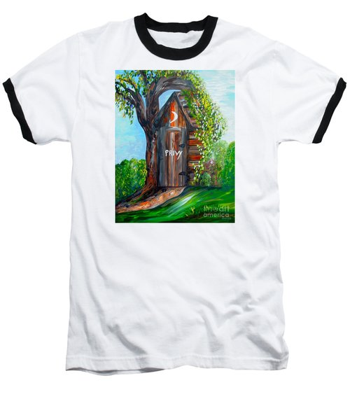 Outhouse - Privy - The Old Out House Baseball T-Shirt by Eloise Schneider